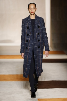 Contrast Stitch Check Coat