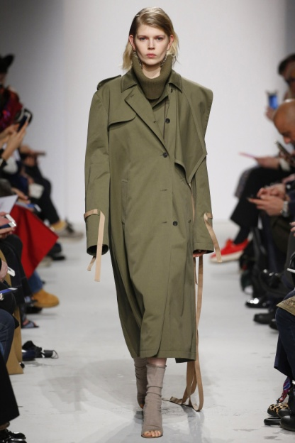 The Incomplete Trench with Leather Details