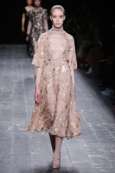Delicate Metallic Florals upon Sheer
